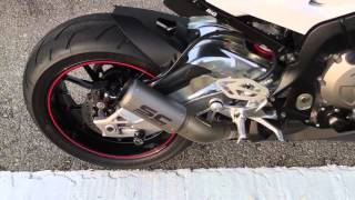 BMW s1000rr with SC PROJECT slip on