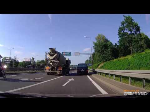Wypadek Motocyklisty - Warszawa 08.06.2016