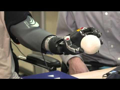Wounded Warrior Uses Robotic Arm Prosthetic