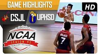 CSJL vs UPHSD | Game Highlights | NCAA 92 - September 6, 2016