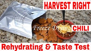 Harvest Right🥣Freeze Dried Chili🥣 & Taste Test
