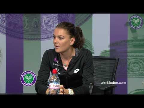 Agnieszka Radwanska first round press conference