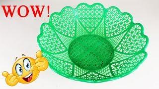 প্লাস্টিকের জালি দিয়ে ইউনিক আইডিয়া | Art and Craft Ideas From Plastic Basket