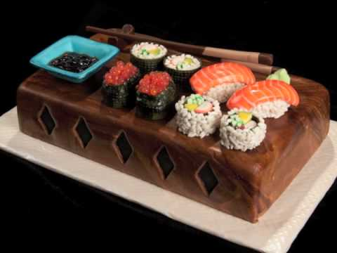 Sushi Birthday Cake Photos