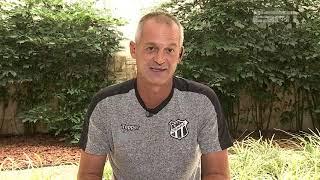 No ESPN Bom Dia, Lisca, técnico do Ceará, fala sobre confronto contra o Corinthians