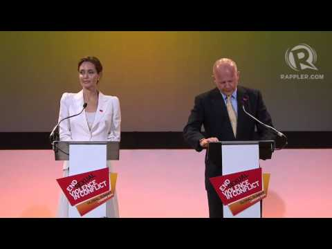Angelina Jolie & William Hague statements on Rape in War