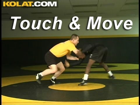 Touch and Move Opponent KOLAT.COM Wrestling Techniques Moves Instruction Image 1
