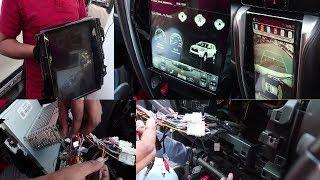 Installed Tesla Type Stereo Inside New Fortuner  !!!