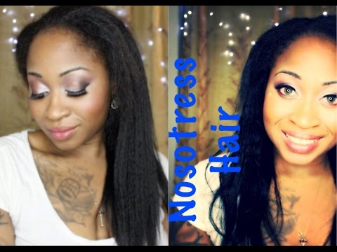 NO GLUE. NO SEW & NO TAPE EXTENSIONS FOR RELAXED OR NATURAL HAIR IN MINUTES!!