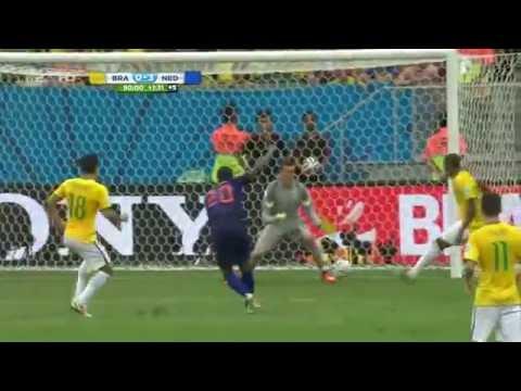 Brazil vs Netherlands 0-3 (Georginio Wijnaldum goal) - 2014 FIFA World Cup Full Match 7/12/14
