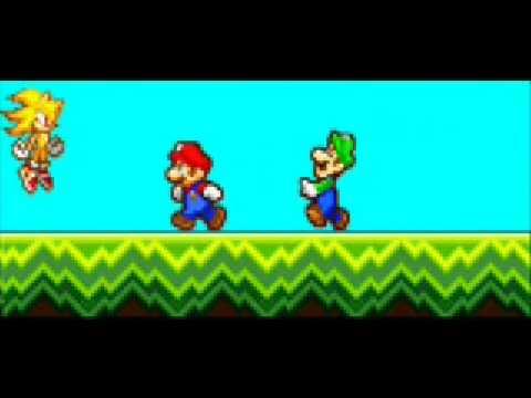 Sonic et Luigi Sonic vs Luigi