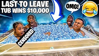 Last To Leave TUB of ICE Wins $10,000!!  (Get Pepper Sprayed If Leave)