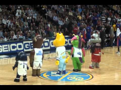 NBA Mascot Dunk Contest on Rocky s Birthday