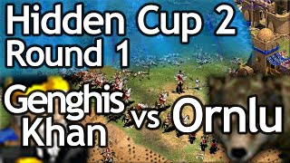 AoE2 Hidden Cup #2 | Genghis Khan vs Ornlu the Wolf! Round of 16!