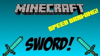 Speed Drawing: How To Draw A Minecraft Diamond Sword