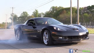 Learn to do a Burnout in a 600hp Corvette Z06!