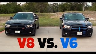 Dodge Charger R/T vs. Dodge Charger SXT (V8 vs. V6) Racing