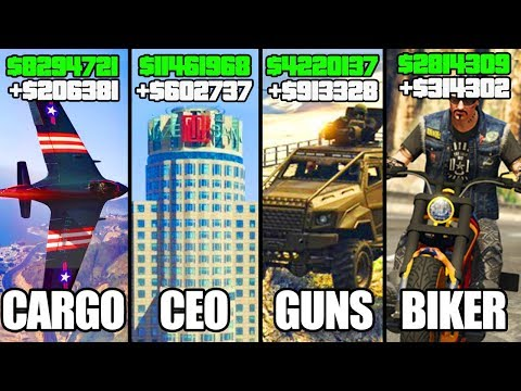 GTA 5 ONLINE - TOP 5 BEST BUSINESSES TO BUY & MAKE MONEY! (CEO, BIKERS, SMUGGLER'S & GUNRUNNING)
