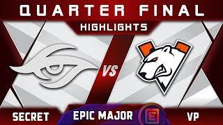 Secret vs VP [GREAT] Quarter Final EPICENTER Major 2019 Highlights Dota 2