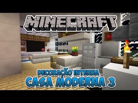 Minecraft: Decoração Interna da Casa Moderna 3