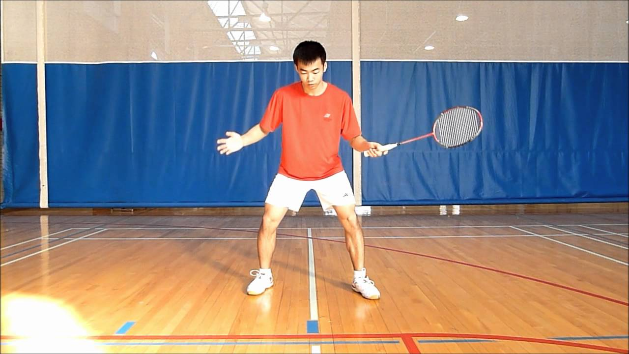 Badminton Footwork by Jimmy Lin, Part 1A: Split Step - YouTube Badminton Players Position