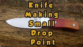 Knife Making, Making A Small Drop Point ( Spring Hollow Forge)