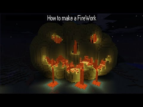 How to make a FireWork in Minecraft
