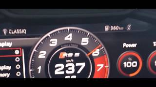 2018 Audi RS5 0-250 km/h - Acceleration