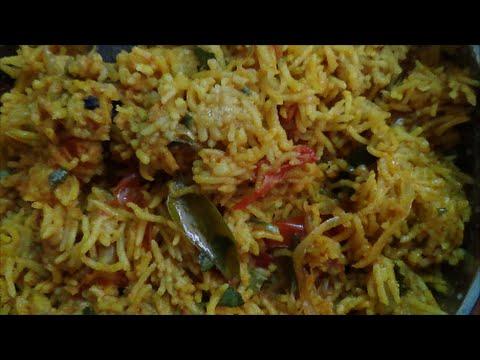 Tomato Rice Recipe-Variety Rice - Thakkali Sadam - தக்காளி சாதம் By Healthy Food Kitchen