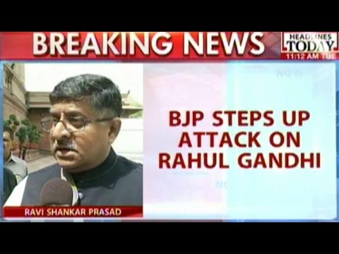 Ravi Shankar Prasad Responds To Rahul Gandhi's Speech In Parliament