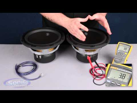 How to Wire Two Single 4 ohm Subwoofers to a 2 ohm Final Impedance   Parallel Wiring   Car Audio 101
