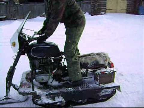 Снегоход из днепра своими руками