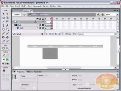 Drop Down Menu and Linking It: Flash Tutorial!