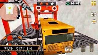 Modern Bus Wash: Auto Car Wash Bus Mechanic Android Gameplay