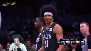 JIMMY BUTLER AND JARED DUDLEY FIGHT! 76ERs vs Brooklyn Nets - Game 4 - Full Game Highlights REACTION