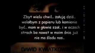 Dawid Kwiatkowski - Na zawsze - tekst