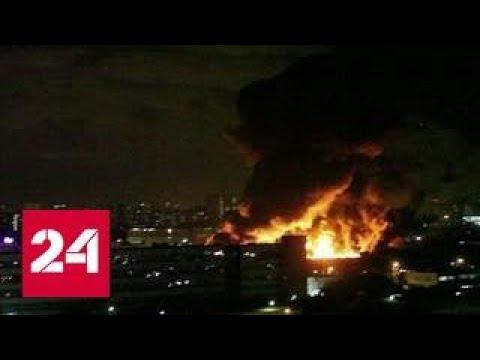 Море огня потушили с вертолетов: в Медведкове сгорел огромный склад
