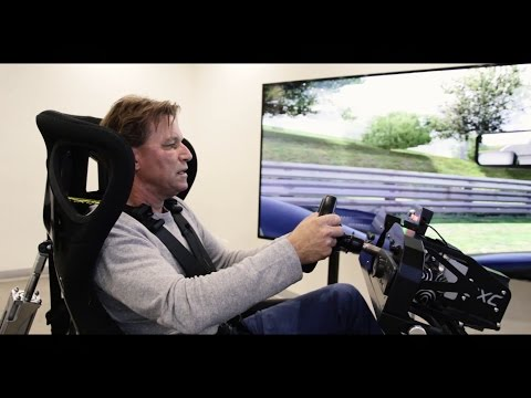 Stefan Johansson takes the virtual McLaren MP4-30 on the Nordschleife