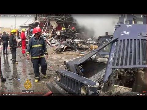Twin bombings kill dozens in Iraq's Baghdad