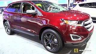 2018 Ford Edge SEL Sport Appearance Package - Exterior Interior Walkaround - 2017 NY Auto Show