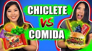 CHICLETE VS COMIDA | Blog das irmãs