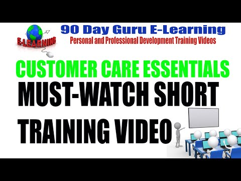 Customer Care: Short Training Video by 90 Day Guru