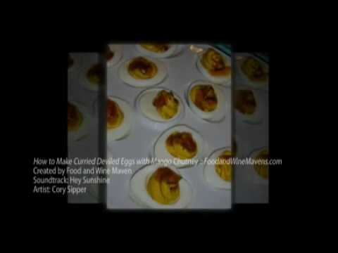 How to Make Curried Deviled Eggs :: FoodandWineMavens.com