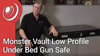 Monster Vault Low Profile Under Bed Gun Safe with Dye the Safe Guy