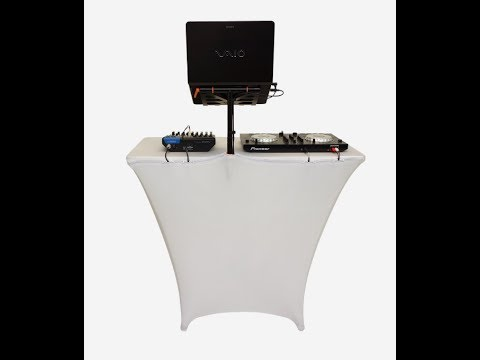 New DJ Equipment - Fast Attach Laptop Stand from Fastset
