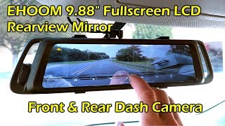 EHOOM A10 Fullscreen LCD Rearview Mirror Front Rear Dashcam