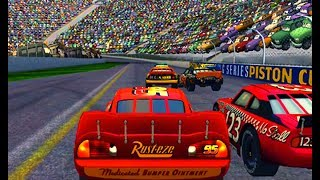 Cars 1 the Videogame 360 - No Com #33 - Lightning Mcqueen VS LA SPEEDWAY (Piston Cup Pro)