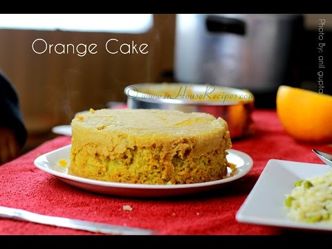 Orange Cake In Cooker Recipe - Hindi with English Subtitles - inHouseRecipes