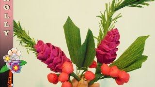 Paper Flower Tutorial Easy : Crepe Paper Pinecone and Berries