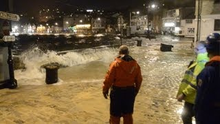 Storm tide strikes St Ives harbour